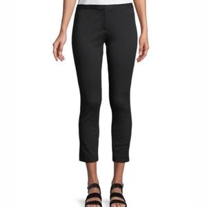 Theory ponte knit trousers black skinny crop